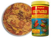 TROPICAL VITALITY & COLOR wysokobiałkowy, wybarwiający pokarm płatkowany z astaksantyną  55 g