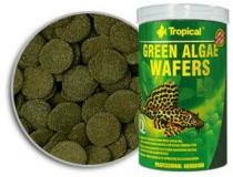 TROPICAL GREEN ALGAE WAFERS roślinne, tonące wafelki ze spiruliną dla glonojadów 100 ml