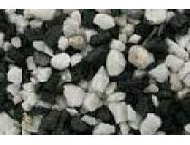 Żwir akwariowy czarno - biały   średni  2 kg